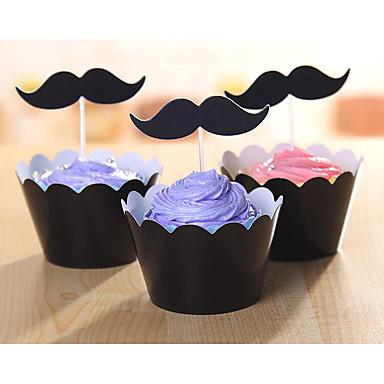 svart skjegg serie cup cake side innsatt kort farge 12 sidestykker +12 stykker satt inn kortet