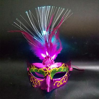1pc førte tilfældig farve julen Hallowmas bold fase moderne fancywork maske natlys