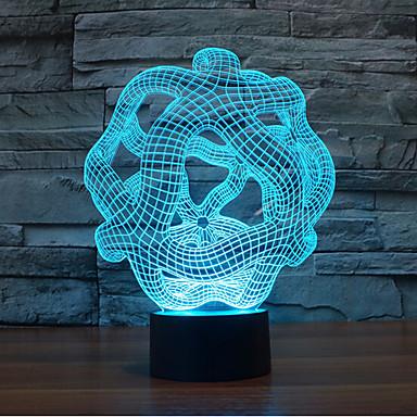 abstrakte Note dimmen 3d führte Nachtlicht 7colorful Dekoration Atmosphäre Lampe Neuheit Beleuchtung Licht