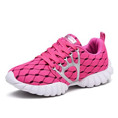 Sneakers-Tyl-Komfort-Dame-Sort Grå Marineblå-Udendørs Fritid Sport-Flad hæl