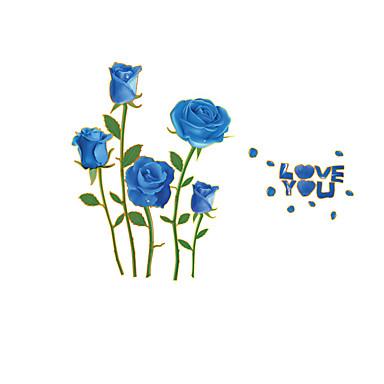 Floral Adesivos de Parede Autocolantes de Aviões para Parede Autocolantes de Fotografias, PVC Decoração para casa Decalque Parede