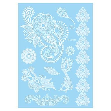 Tatoveringsklistermærker Blomster Serier Ikke Giftig Mønster Vandtæt henna BryllupDame Voksen Flash tatovering Midlertidige Tatoveringer