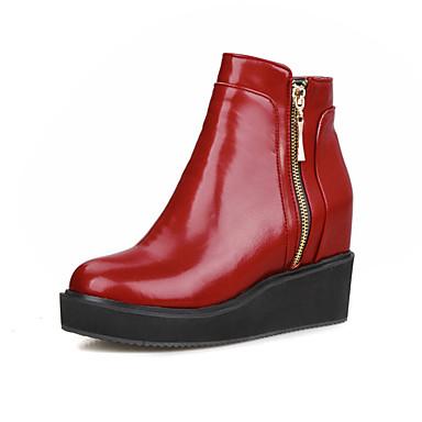 Hiver Mode Marche la Bottes Bout rond compensée 05365913 Randonnée Bottes Automne Chaussures Polyuréthane Confort de à semelle Hauteur Femme qtA8BS
