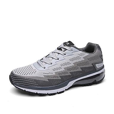 Sneakers-PU-Komfort-Unisex-Blå Rosa Rød Grå-Udendørs Sport-Flad hæl