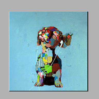 Hånd-malede Abstrakt Dyr Kvadrat, Klassisk Moderne Lærred Hang-Painted Oliemaleri Hjem Dekoration Et Panel