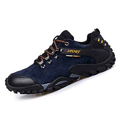 Homens sapatos Camurça Primavera Outono Conforto Tênis Aventura Cadarço para Atlético Preto Cinzento Amarelo Azul
