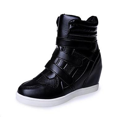 Støvler-Kunstlæder-Rullebræt Komfort Ankelstøvler Rulleskøjtesko-Dame-Sort Hvid-Kontor Fritid Sport-Flad hæl