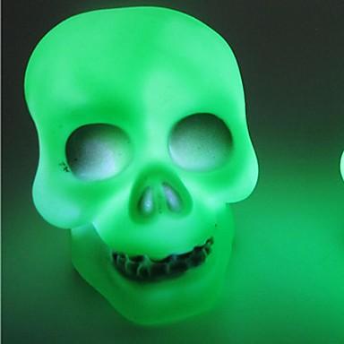 1pc geleid batterij willekeurige kleur originaliteit knickknack kerst schedel nachtlampje