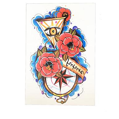 Tatoveringsklistremerker Blomster Serier Ikke Giftig Mønster Korsryggen VanntettDame Herre Voksen Flash-tatoveringmidlertidige