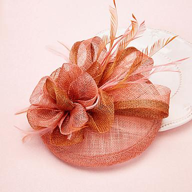 Tullefjær fascinators headpiece klassisk feminin stil