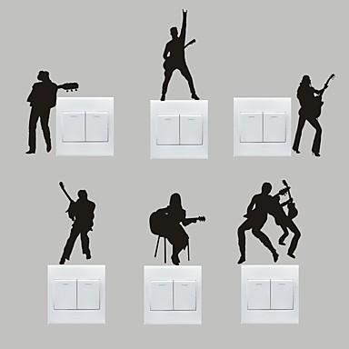 Musik Wall Stickers Fly vægklistermærker Dekorative Mur Klistermærker / Klistermærker til kontakter,PVC Materiale Kan fjernesHjem