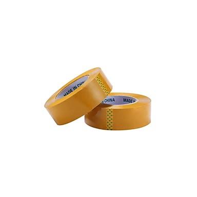 fita amarela embalagem fita de embalagem vedação fita (rolar a 2, venda de fita amarela 45 * 25)