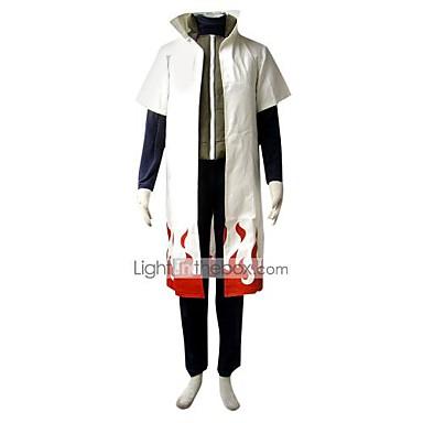 Inspireret af Naruto Minato Namikaze Anime Cosplay Kostumer Cosplay Kostumer Ensfarvet Kortærmet 背心 / Top / Bukser Til Herre