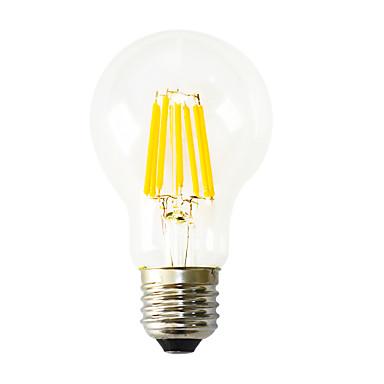 1pç 640-800lm E26 / E27 Lâmpadas de Filamento de LED B 8 Contas LED COB Decorativa Branco Quente 220-240V