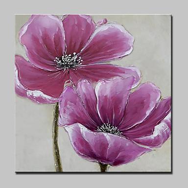 Handgemalte Blumenmuster/Botanisch Quadratisch, Modern Segeltuch Hang-Ölgemälde Haus Dekoration Ein Panel