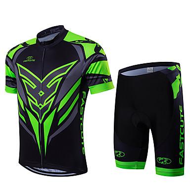 Fastcute Homens Manga Curta Camisa com Shorts para Ciclismo Moto Shorts Tights Bib Camisa/Roupas Para Esporte Conjuntos de Roupas,