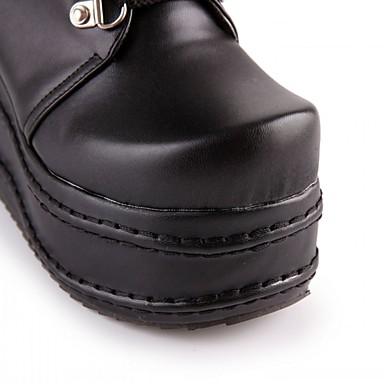 Lacet Basique Chaussures Similicuir Printemps compensée Synthétique semelle Marche Hiver Femme Confort Points Automne Hauteur Polka 05205007 Nouveauté de Fermeture Bottes Microfibre Escarpin UxdvBq