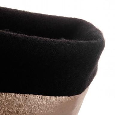 Cowboy Hiver Talons Chaussures Verni Bottes de Cuir Chaussures Automne à 05169308 Combat boîtes de Similicuir Synthétique Femme Western awzqdYa