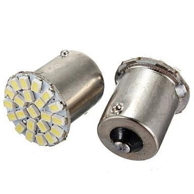 10stk 1156 22smd lysdioder lys 1206 SMD blinklys omvendt lys bil LED lampe (DC12V)