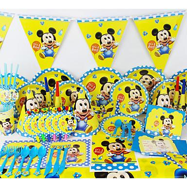 luksus micey Baby 78pcs fødselsdagsfest dekorationer børn evnent part forsyninger party dekoration 6 mennesker bruger