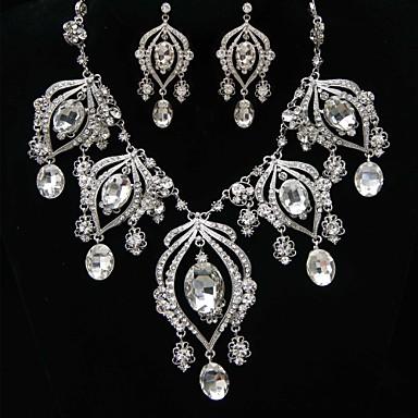 Damen Schmuck-Set Ohrringe Halsketten - Personalisiert Retro Niedlich Party Büro Freizeit Böhmische Sexy bezaubernd Kreuz Transparent