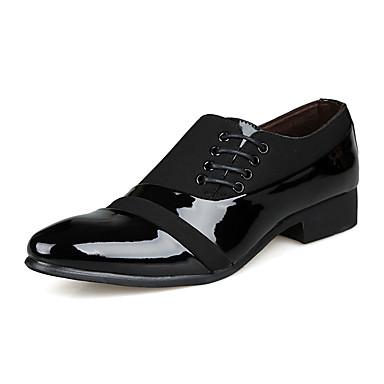 Miesten kengät Nahka Kevät Syksy muodollinen Kengät Oxford-kengät varten Kausaliteetti Juhlat Musta