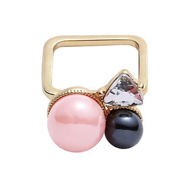 Anéis Fashion / Estilo Casual Jóias Liga Feminino Anéis Meio Dedo 1pç,Tamanho Único Dourado