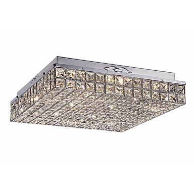 9-luz Montage de Flujo Luz Ambiente Cromo Metal Cristal, LED 110-120V / 220-240V Fuente de luz LED incluida / LED Integrado