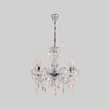 Traditional/Classic Candle Style Chandelier Uplight For Living Room Bedroom Dining Room 110-120V 220-240V Bulb Not Included