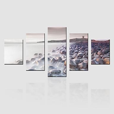 canvas Set Paisagem Moderno,5 Painéis Tela Vertical Impressão artística wall Decor For Decoração para casa