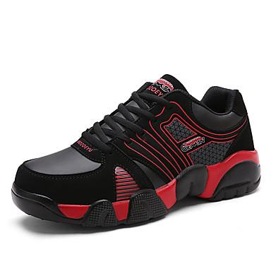 Sneakers-Ruskind-Komfort-Unisex-Blå Grøn Rød Hvid-Fritid-Flad hæl