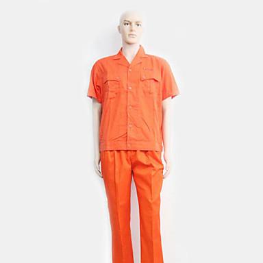 コットン半袖オーバーオールスーツオーバーオールの夏の半袖の薄い砂のランプツーリング(販売オレンジ)