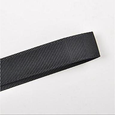 ren polyester grosgrain bånd sort og hvid farve 9mm 100 yards / rulle