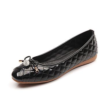 Feminino Sapatos Courino Outono Conforto Rasos Caminhada Rasteiro Laço Para Social Preto Cinzento