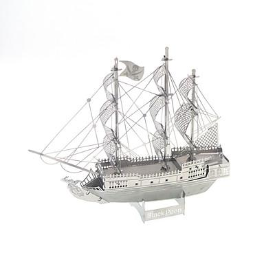 voordelige 3D-puzzels-3D-puzzels Modelbouwsets Speeltjes Oorlogsschip Zwarte parel Noviteit Metaal Jongens Meisjes 1 Stuks