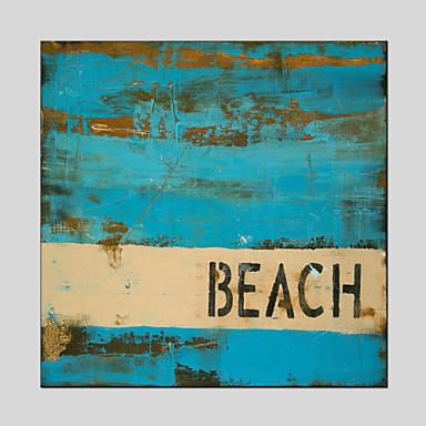 Håndmalte Abstrakt olje malerier,Moderne / Klassisk / Tradisjonell / Realisme / Middelhavet / Parfymert /
