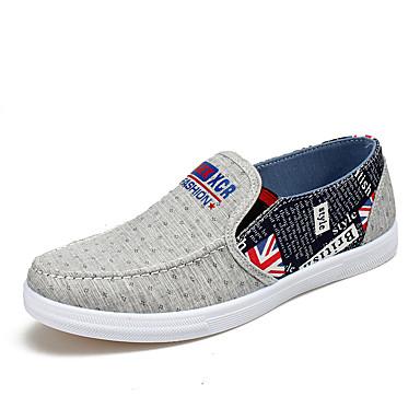 Loafers og Slip-ons-Stof-Komfort-Herre-Blå Grå-Udendørs Fritid Sport-Flad hæl