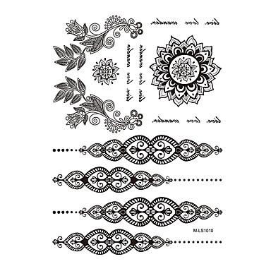 Tatoveringsklistermærker Smykke Serier Ikke Giftig Mønster Vandtæt henna BryllupDame Voksen Flash tatovering Midlertidige Tatoveringer