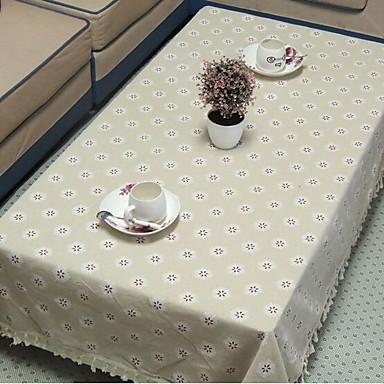 Kvadrat Blomstret Trykt mønster Duge , Lin/Bomull Blanding Materiale Hotel Middagsbord Dekorasjoner til hjemmet 1