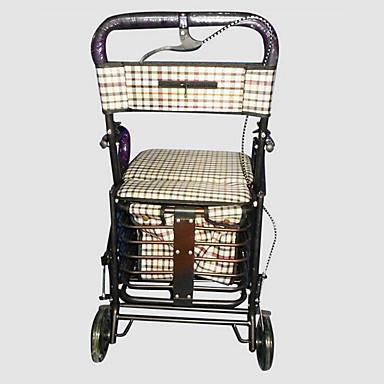 vogn med de ældre sidder bærbare sammenklappelig indkøbskurv supermarked trolley xiang xin