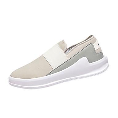 Herrer Sneakers Stof Efterår Atletisk Flad hæl Sort Mørkegrå Lysegrå Flad