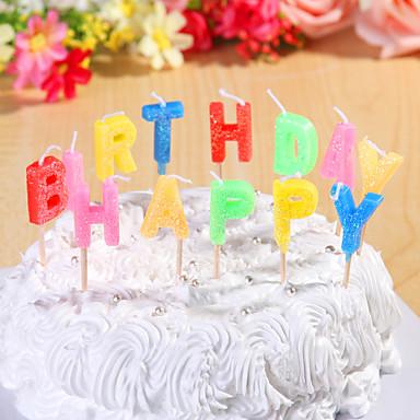 Decoração do partido velas de aniversário definir letras do feliz aniversario