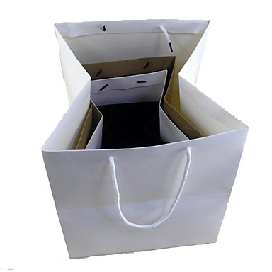 vierkante kubus zak papieren zak gift bags gave tassen flowerbox cake plek een pak van vijf handtassen