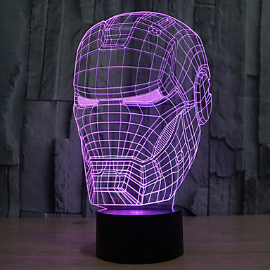 1 pieza Luz nocturna 3D Decorativa LED