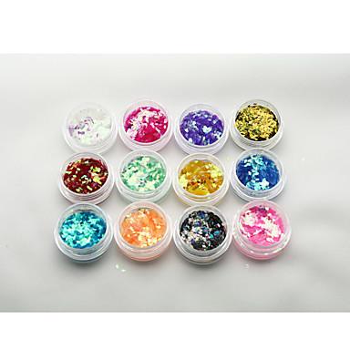 1 pcs Purpurina Jóias de Unhas Paetês arte de unha Manicure e pedicure Abstracto / Clássico / Glitter & Sparkle Diário / Jóias de unha