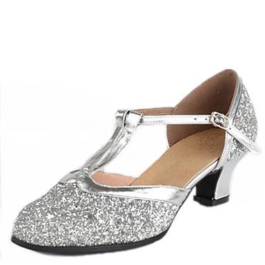 698c526585 Női Latin cipők / Modern cipők Flitter Szandál Csat Alacsony Szabványos  méret Dance Shoes Ezüst / Aranyozott