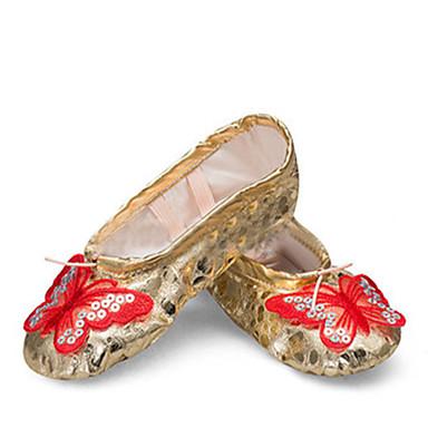 Niet aanpasbaar-Dames-Dance Schoenen(Roze / Rood / Zilver / Goud) - metPlatte hak- enBallet / Danssneakers