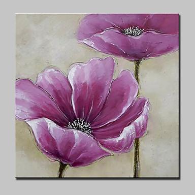 Handgemalte Abstrakt / Blumenmuster/Botanisch Ölgemälde,Modern Ein Panel Leinwand Hang-Ölgemälde For Haus Dekoration