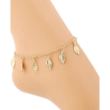Mulheres Tornezeleira / Pulseiras Chapeado Dourado Liga Borla Sensual Fashion Estilo simples Europeu Tornezeleira Jóias Para Presentes de