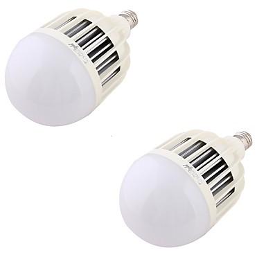 36W E26/E27 LED-bollampen A60 (A19) 72 SMD 5730 2200 lm Warm wit Decoratief AC 220-240 V 2 stuks